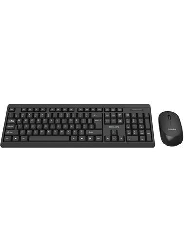 Philips Philips SPT6314 Kablosuz Klavye-Mouse SET USB Siyah TR Q Renkli